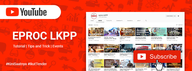 Channel Youtube Eproc LKPP